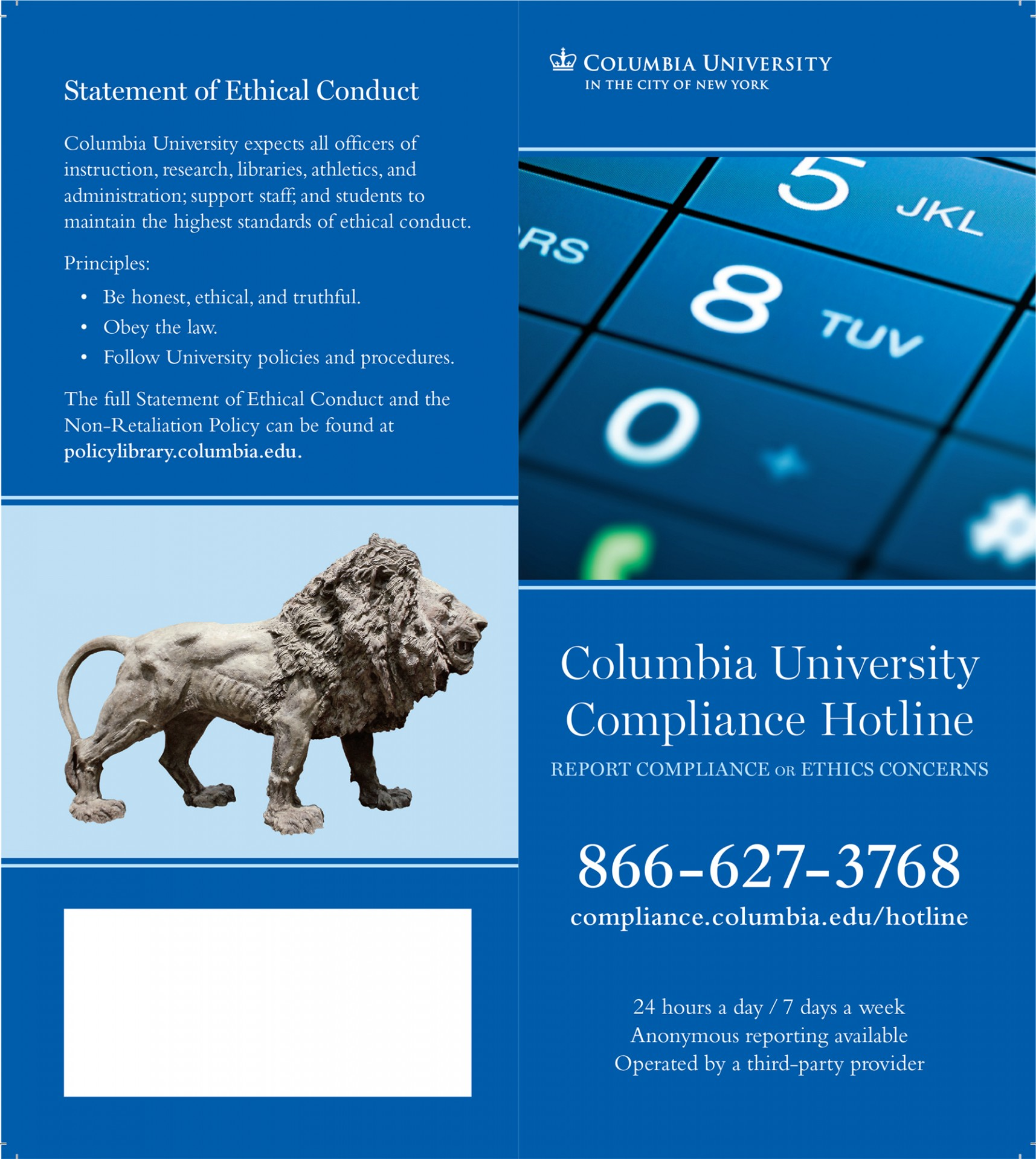 image of compliance brochure